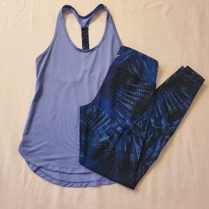 OLD NAVY ACTIVE T-STRAP TANK TOP & LEGGINGS SET